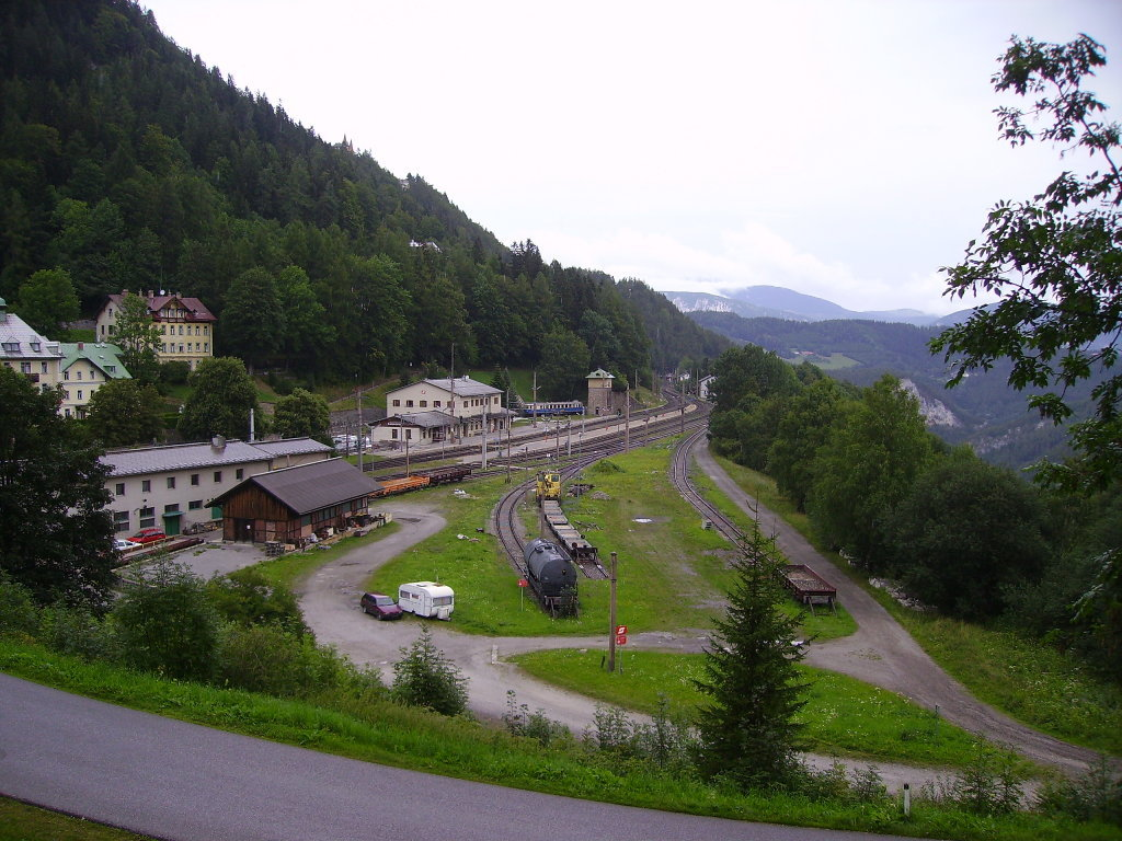 Bahnhof Semmering, aufgenommen im August 2007 - Semmering - Kurort, Niederösterreich (2680-NOE)