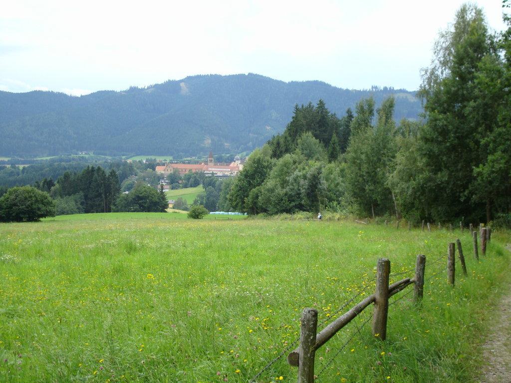 Fernblick zur Benediktinerabtei Seckau - Seckau, Steiermark (8732-STM)