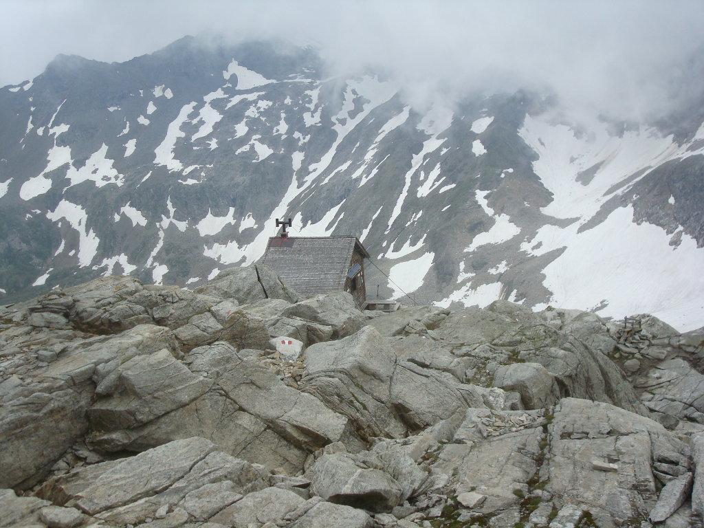 Die Rojacher Hütte auf dem Weg von Neubau zum Sonnblick Gipfel - Rauris, Salzburg (5661-SBG)