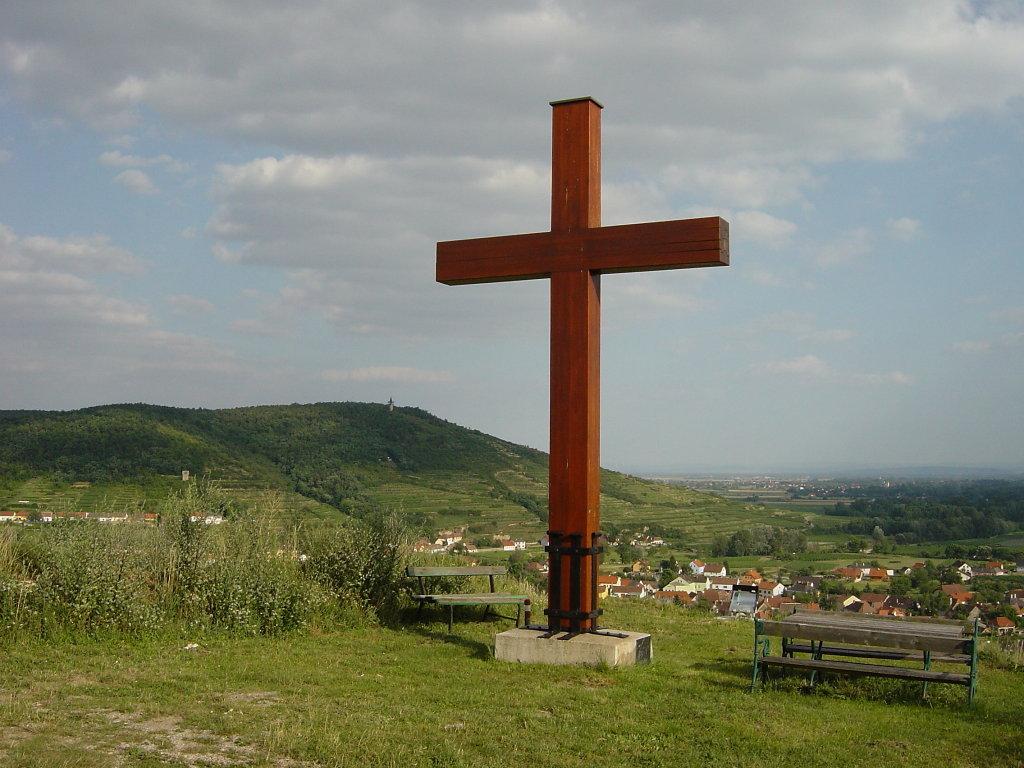 Das Friedenskreuz am Kogelberg bei Zöbing - Zöbing, Niederösterreich (3550-NOE)