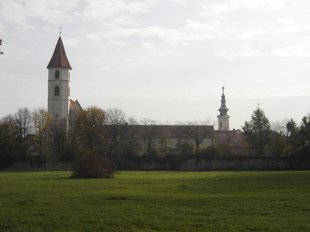 Blick zur Pfarrkirche und Stadtturm Bad Radkersburg - Bad Radkersburg, Steiermark (8490-STM)