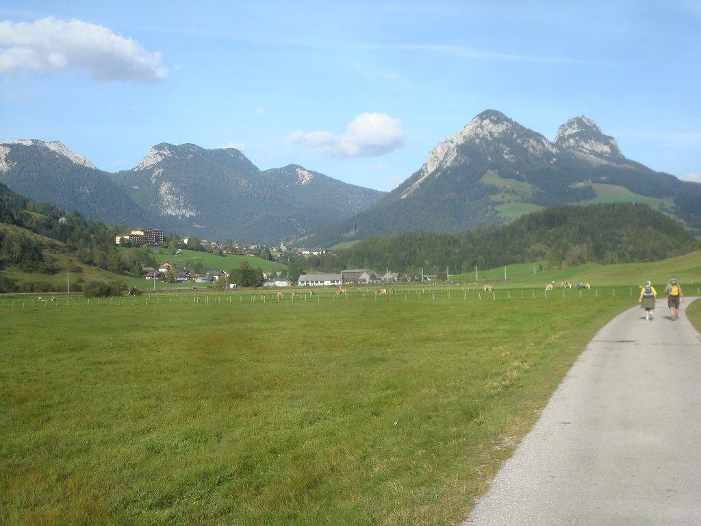 Fernblick nach Tauplitz und zum Gwöhnlistein und Hechlstein - Tauplitz, Steiermark (8982-STM)