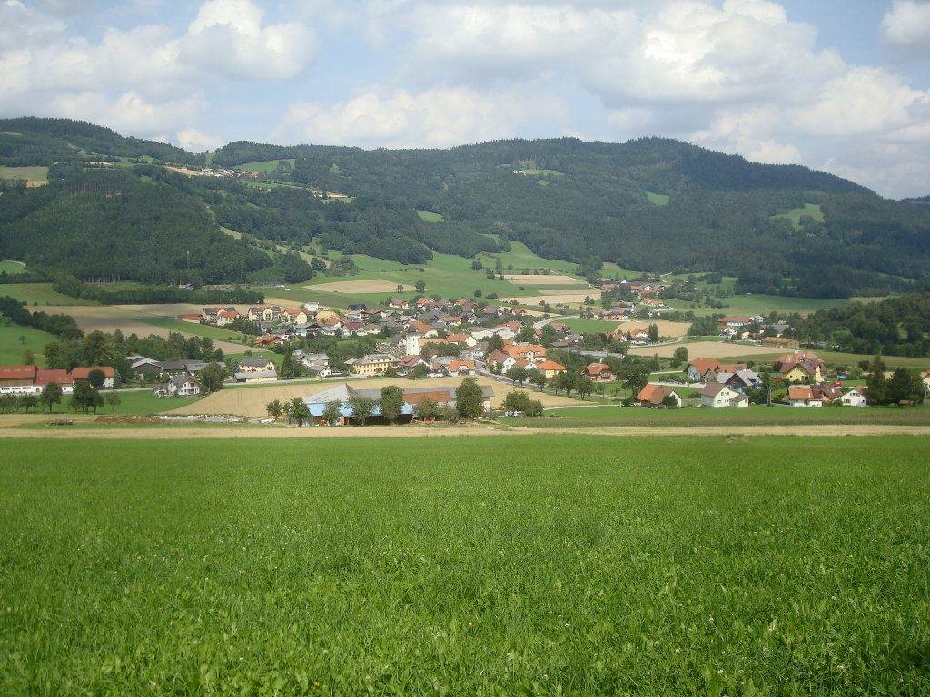 Blick auf Laimbach am Ostrong - Laimbach am Ostrong, Niederösterreich (3663-NOE)