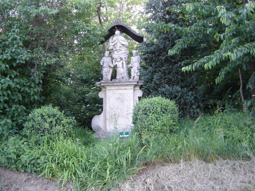 Die Steinfiguren der Hl. Dreifaltigkeit bei Stettenhof - Stettenhof, Niederösterreich (3482-NOE)