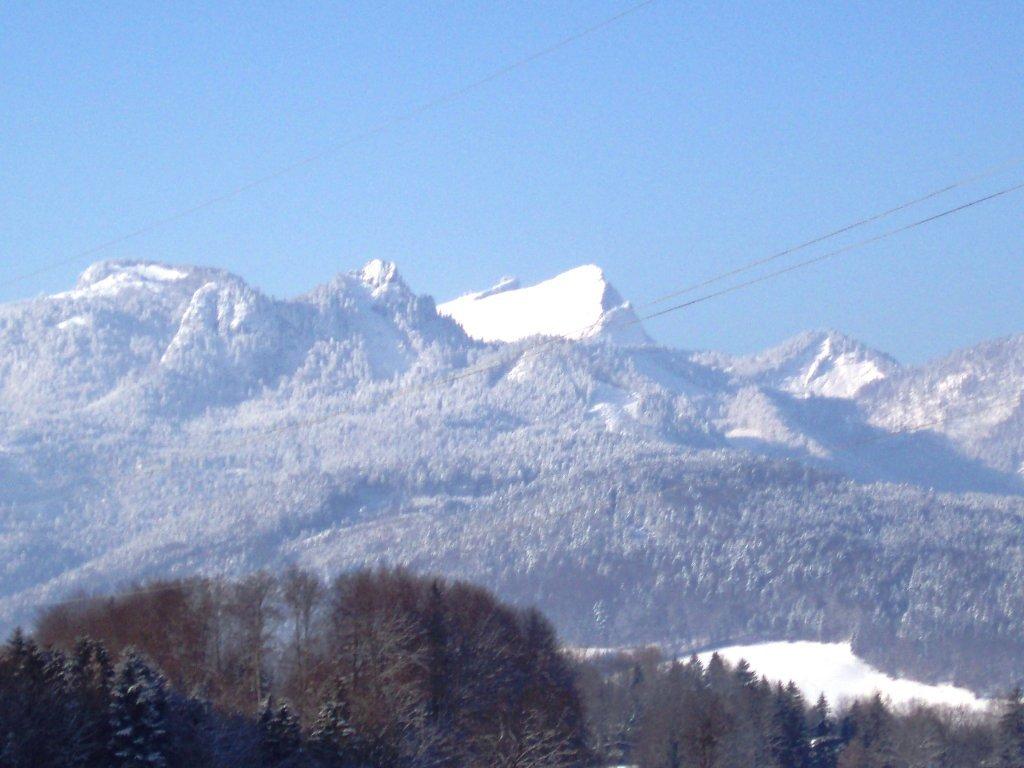 Ausblick auf den verschneiten Schafberg - Windhag, Oberösterreich (5351-OOE)