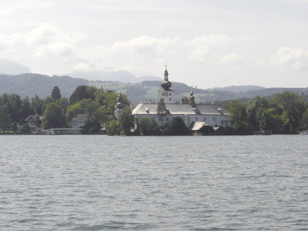 Blick zum Schloss Orth. - Gmunden, Oberösterreich (4810-OOE)