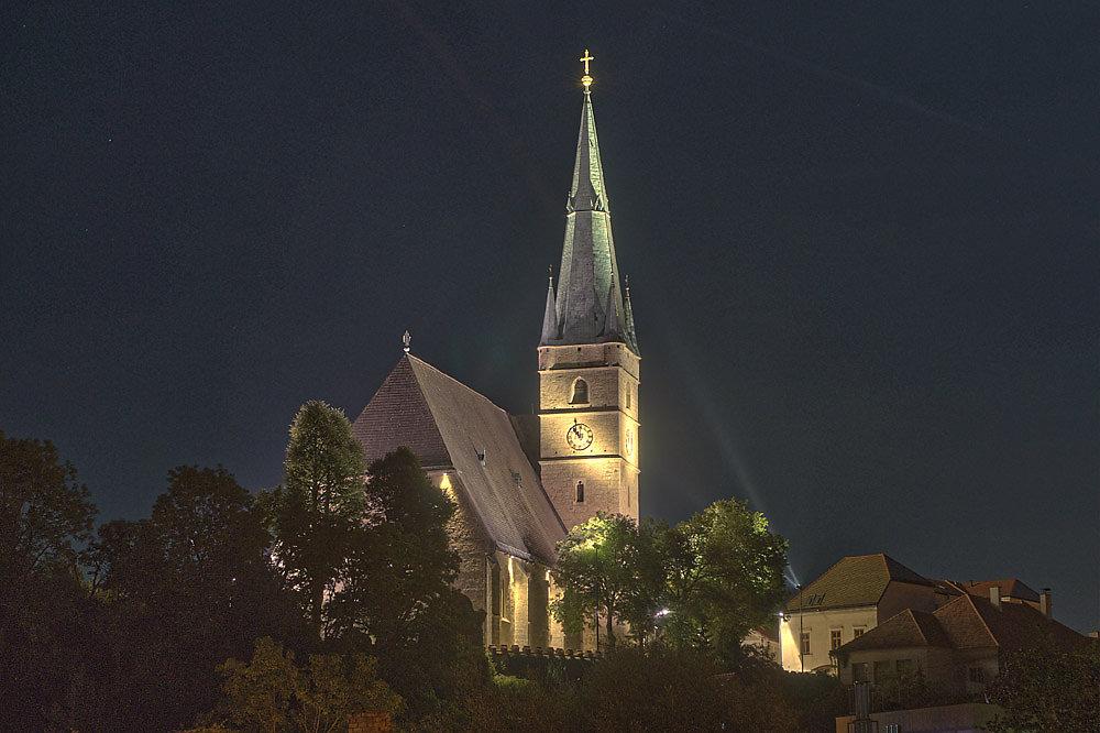 Die St. Michael Wehrkirche von der Johannesgasse aus ... - Haag, Niederösterreich (3350-NOE)