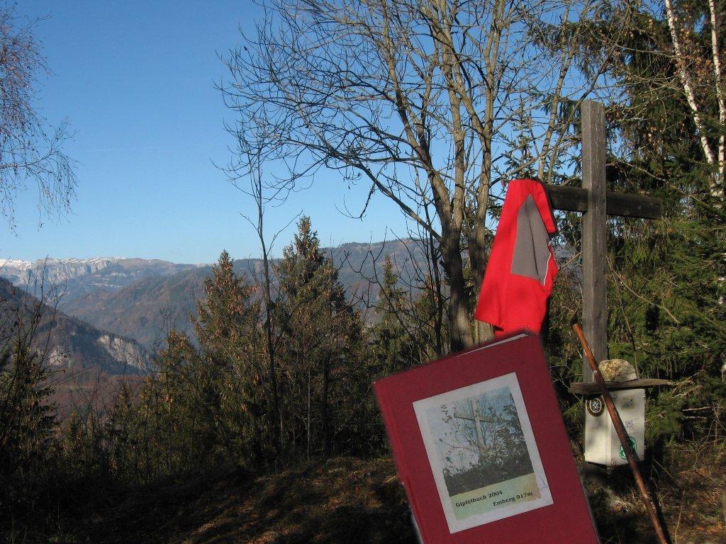 Embergkreuz mit Gipfelbuch 917m 25. Nov 09 - Emberg bei Kapfenberg, Steiermark (8605-STM)