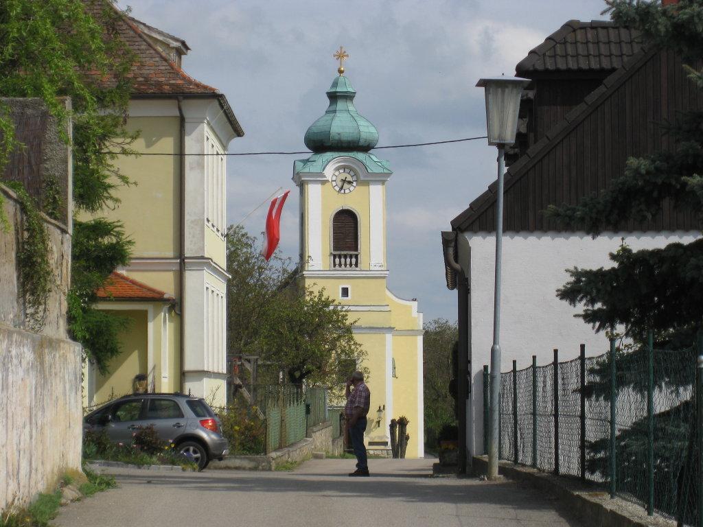 Roggendorfer Kirche ZUR ROGGENDORFER WWW. über Gemeinde Röschitz LINK Roggendorf - Roggendorf, Niederösterreich (3730-NOE)