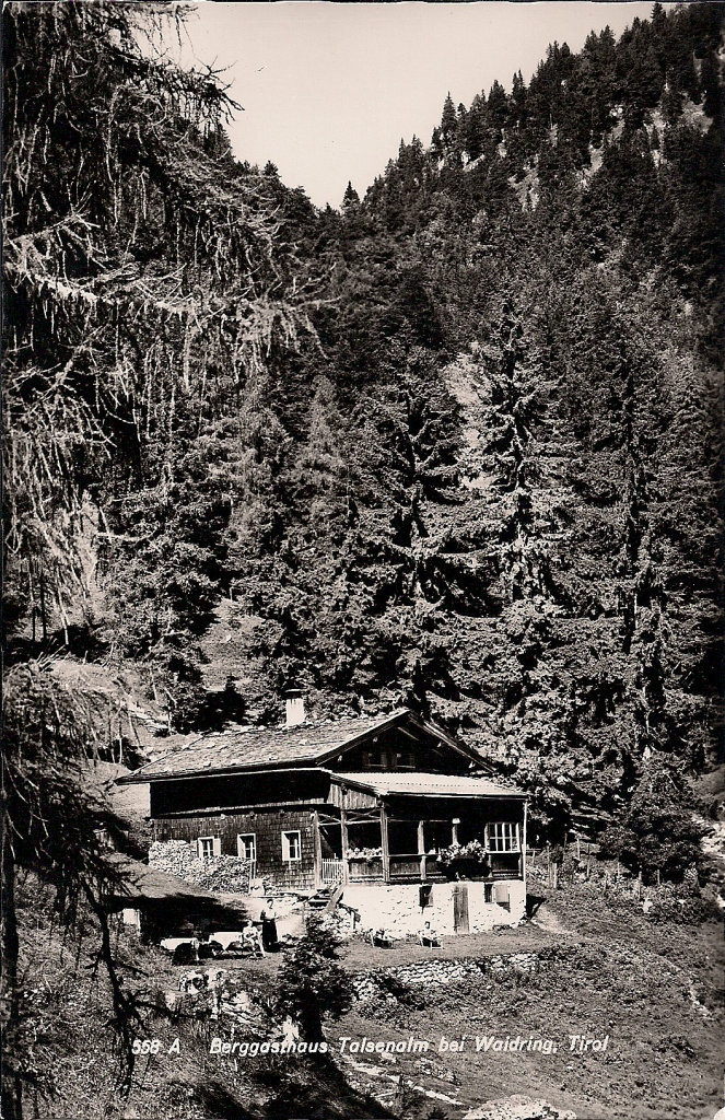 AK Talsen-Alm b. Waidring, Tirol Besitzer: Klaus Seibl von 1966 - Talsenalm, Tirol (6384-TIR)