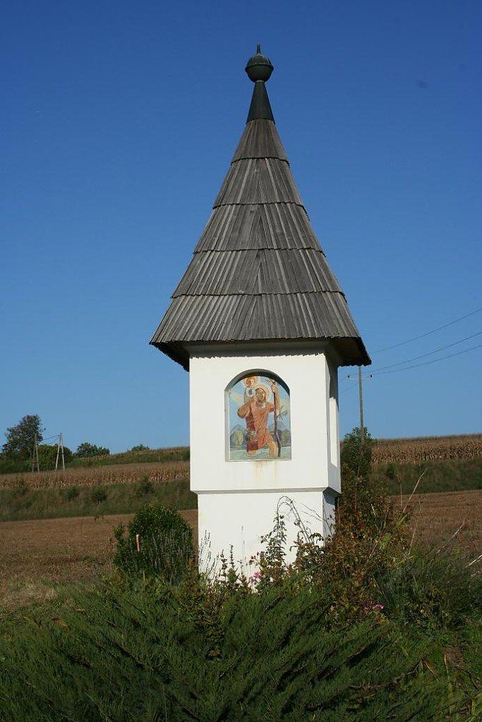Marterl mit Heiligenbildern, Name des Künstler gesucht - Kleindorf II, Kärnten (9122-KTN)