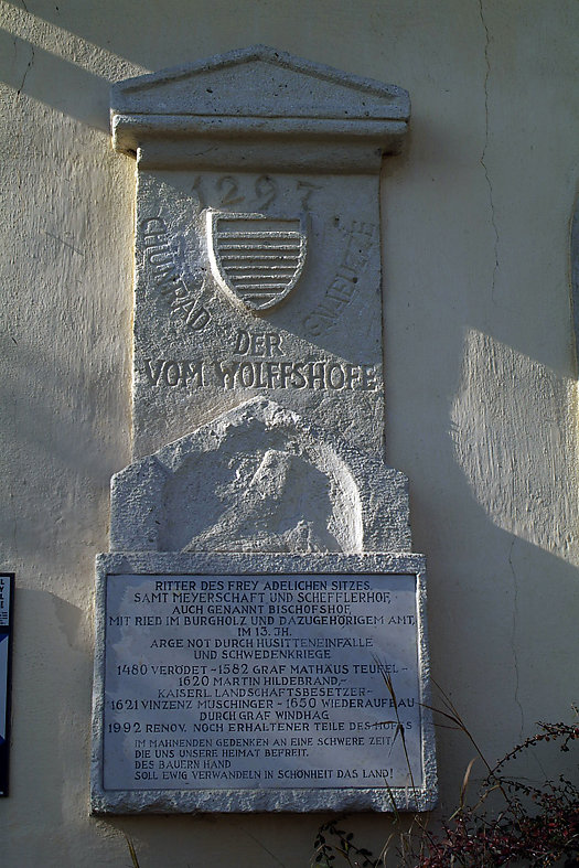 Geschichte zum Schloss - Kulturdenkmal - Wolfshof, Niederösterreich (3571-NOE)