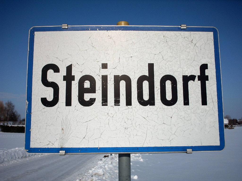 Ortstafel Steindorf am Attersee - Steindorf, Oberösterreich (4851-OOE)