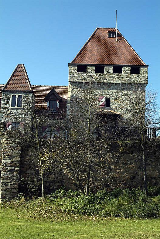 Teil des Schlosses in Wolfshof - Wolfshof, Niederösterreich (3571-NOE)