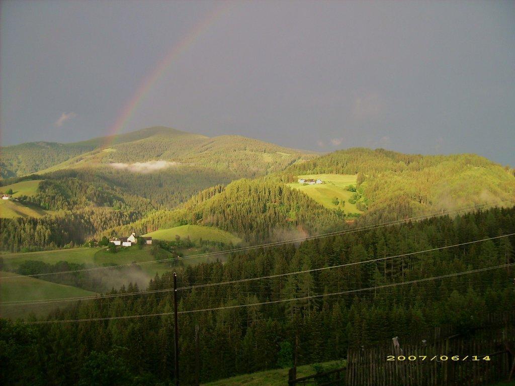 Regenbogen über St.Georgen-Juni2007 - St. Georgen in Obdachegg, Steiermark (8742-STM)