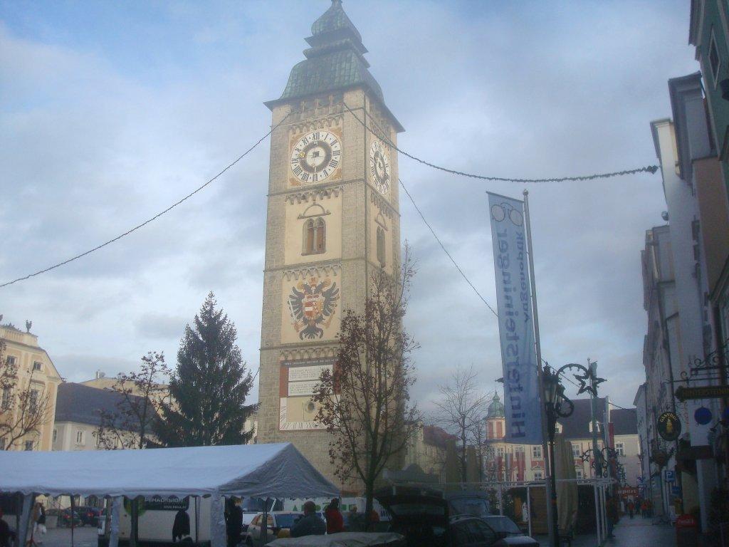 Der 60m hohe Stadtturm - Enns, Oberösterreich (4470-OOE)