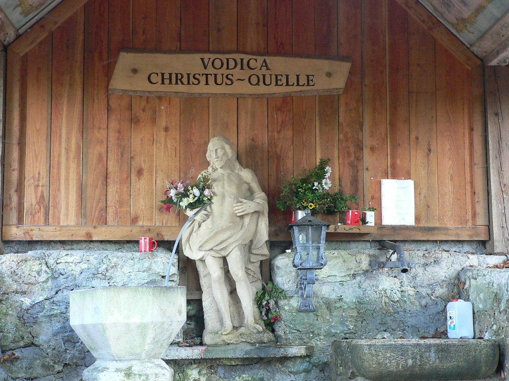 Christusquelle, Heilquelle, Kapellenberg Maria Elend im Rosental - Maria Elend, Kärnten (9182-KTN)