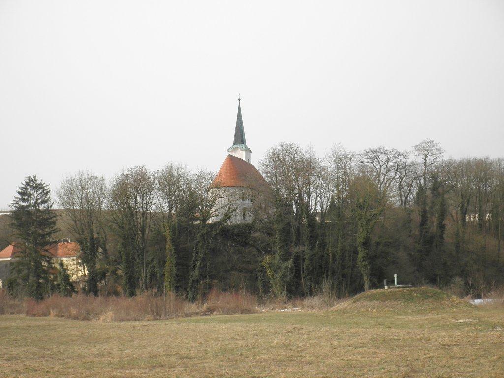 Blick zur Kirche von Haunoldstein - Haunoldstein, Niederösterreich (3384-NOE)