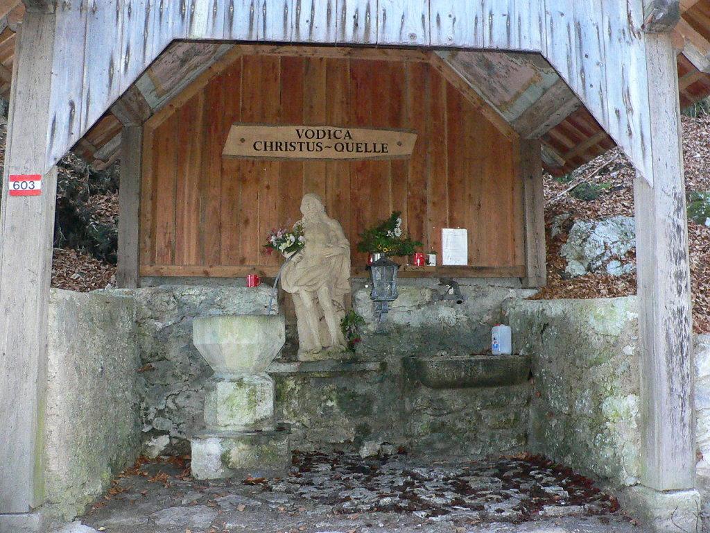 Vodica Christus Quelle, Heilquelle, Kapellenberg Maria Elend im Rosental - Maria Elend, Kärnten (9182-KTN)