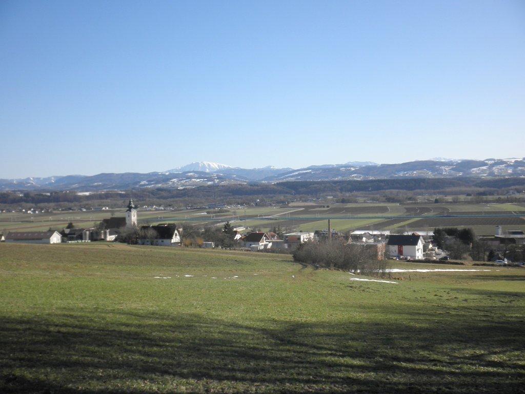 Blick über St. Georgen am Ybbsfelde zum Ötscher - St. Georgen am Ybbsfelde, Niederösterreich (3300-NOE)