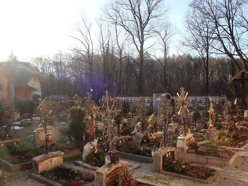 Der idyllische Friedhof, wo viele meiner ehemaligen Bekannten begraben sind! - St. Jakob am Thurn, Salzburg (5412-SBG)
