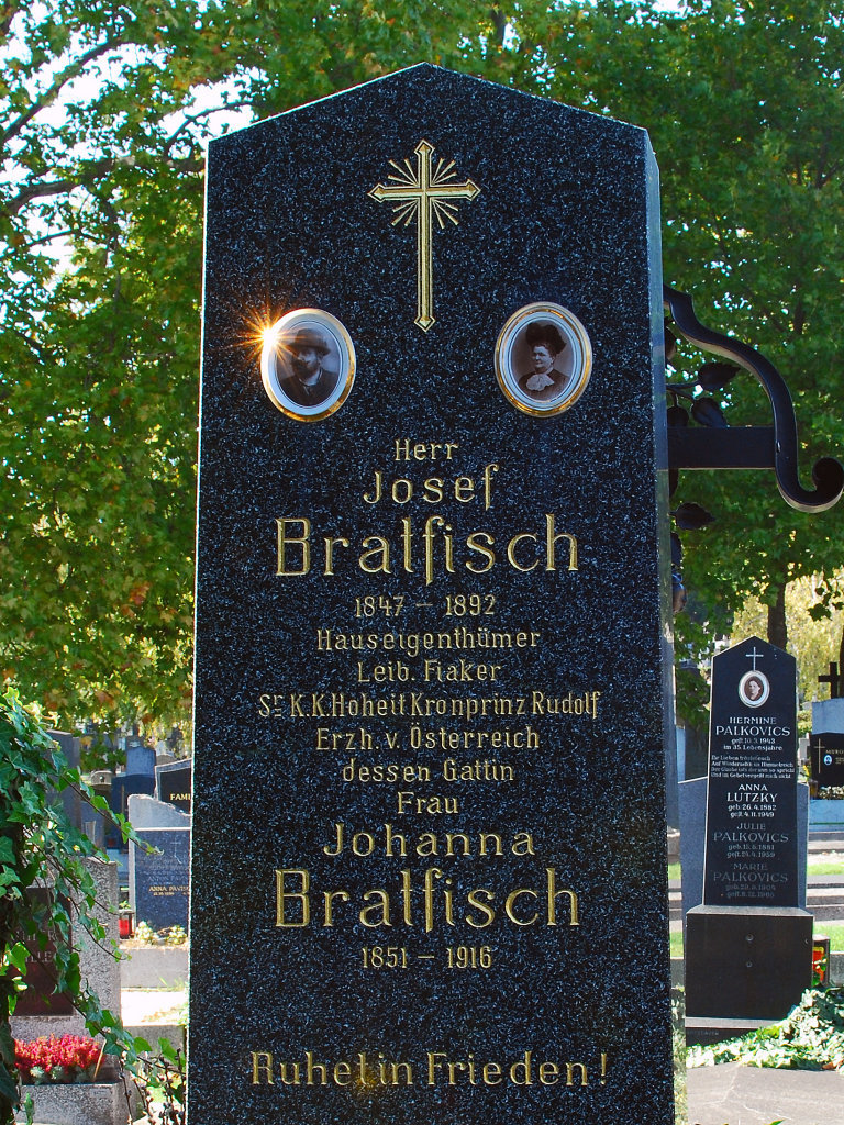 Hernalser Friedhof, Grab von Josef Bratfisch, Leib. Fiaker von Kronprinz Rudolf - Hernalser Friedhof, Wien (1170-W)