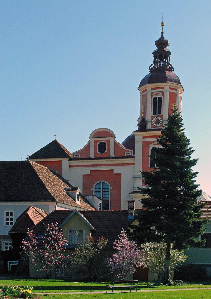 Blick auf Stift Pöllau, Oststeiermark - Pöllau, Steiermark (8225-STM)