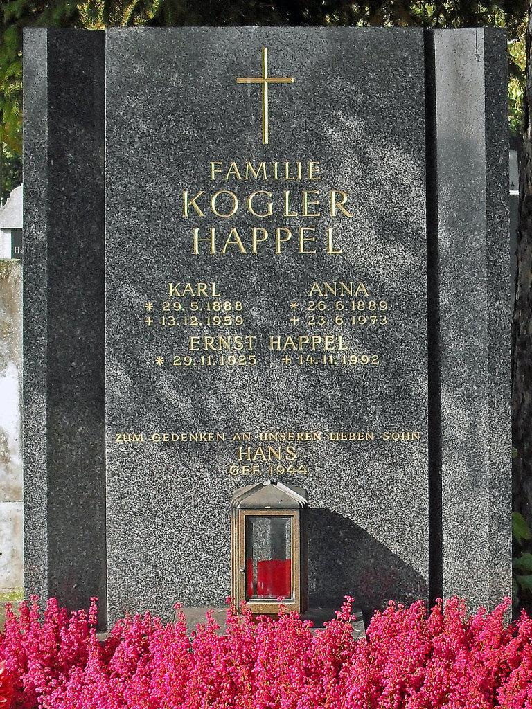 Hernalser Friedhof, Grab von Ernst Happel - Hernalser Friedhof, Wien (1170-W)