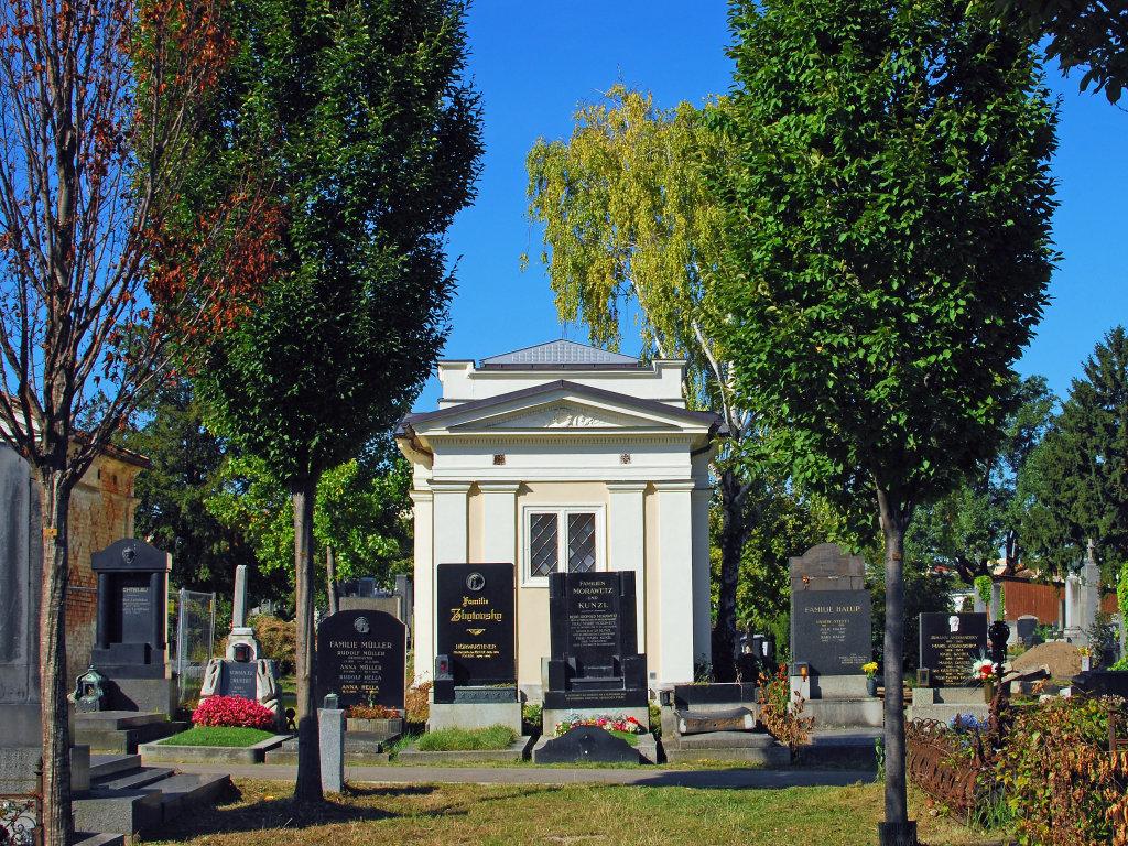 Blick in den Meidlinger Friedhof - Friedhofweg Meidling, Wien (1120-W)
