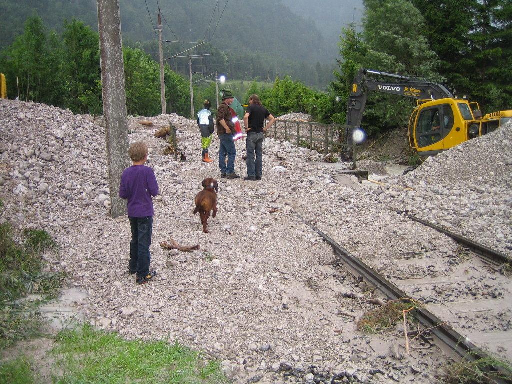 Vermurung der Bahnlinie (Sommer 2010) - Langwies, Oberösterreich (4802-OOE)