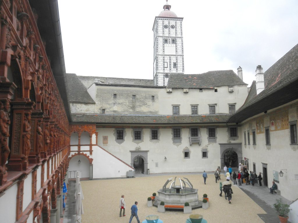 Innenhof der Schallaburg - Schallaburg, Niederösterreich (3382-NOE)