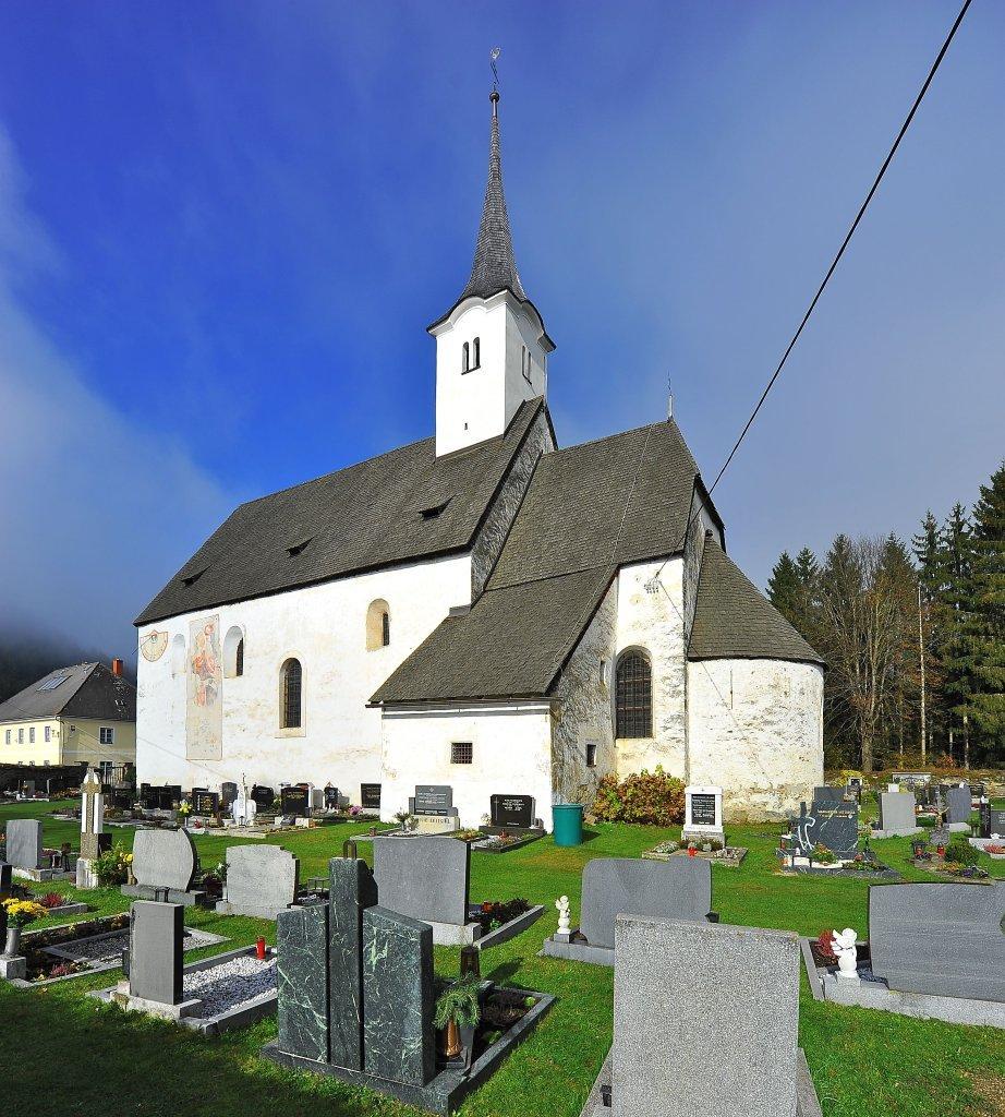Pfarrkirche heiliger Egydius inmitten des Friedhofs - Zweinitz, Kärnten (9343-KTN)