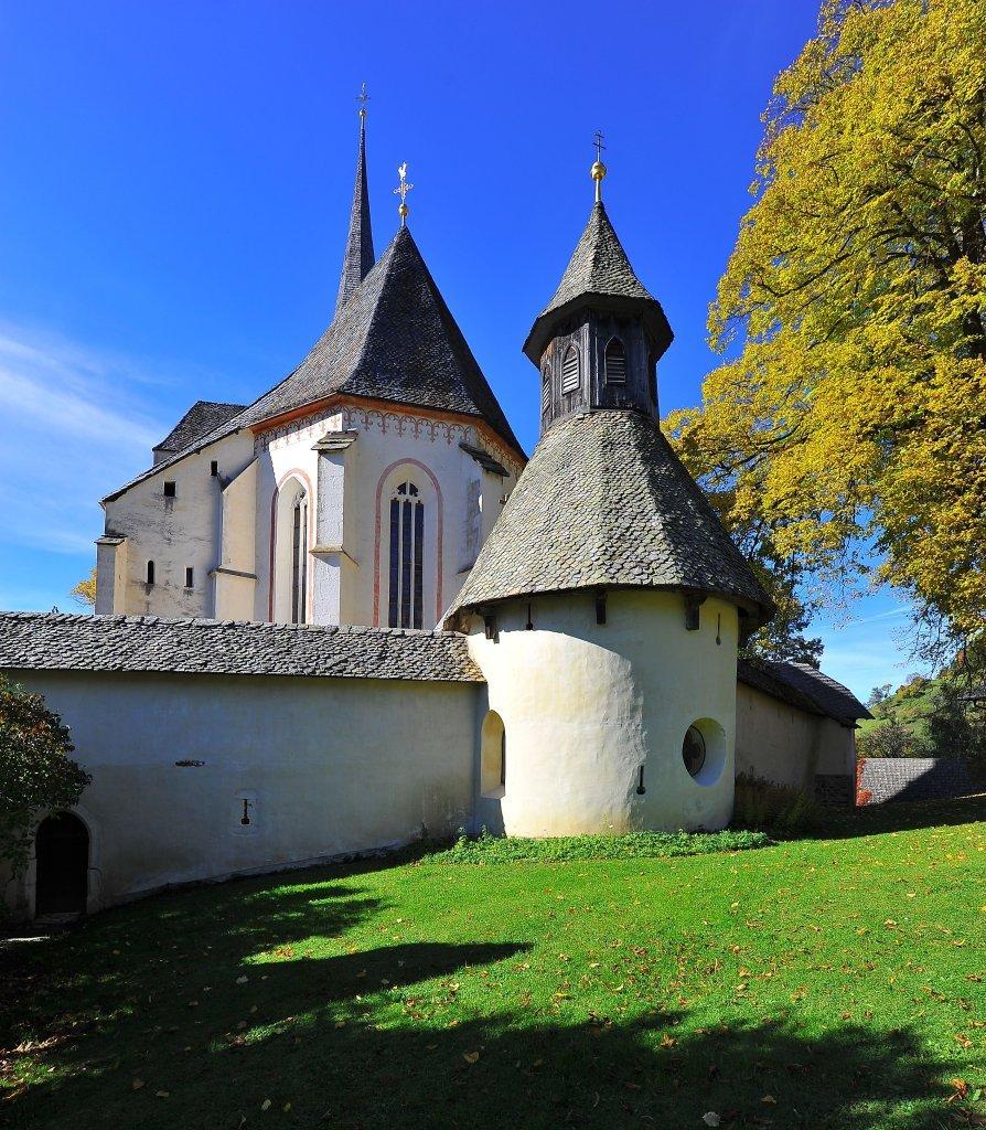 Kapelle in der Friedhofsmauer der Kirchenburg - Hochfeistritz, Kärnten (9372-KTN)