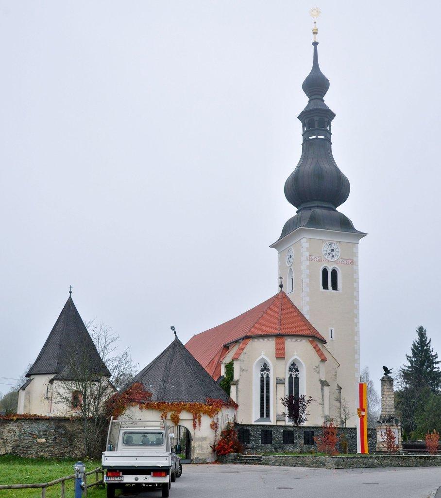Pfarrkirche heiliger Johannes im Hauptort - Weitensfeld im Gurktal, Kärnten (9344-KTN)