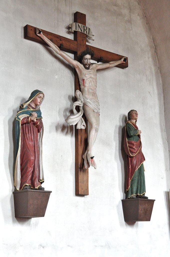 Kreuzigungsgruppe in der Pfarrkirche heiliger Johannes in Weitensfeld - Weitensfeld im Gurktal, Kärnten (9344-KTN)