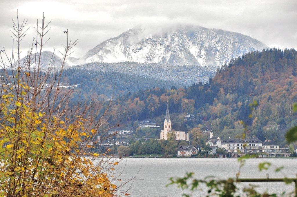 Blick auf Maria Wörth und das Ferlacher Horn - Pörtschach am Wörther See, Kärnten (9210-KTN)