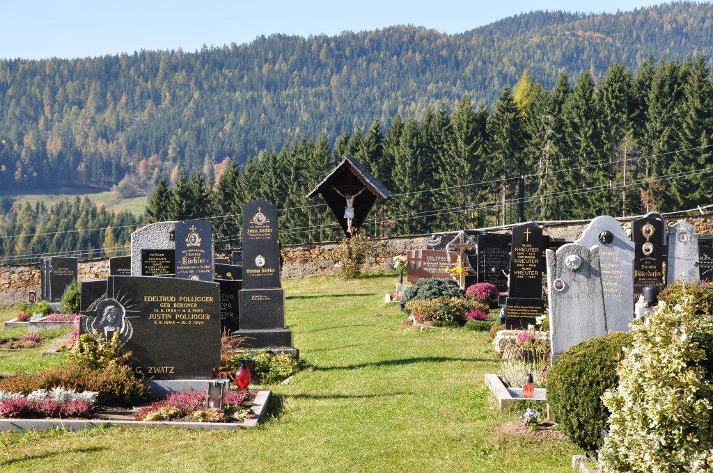 Friedhof westlich der Pfarrkirche heiliger Jakob d. Ä. - Sankt Jakob, Kärnten (9342-KTN)