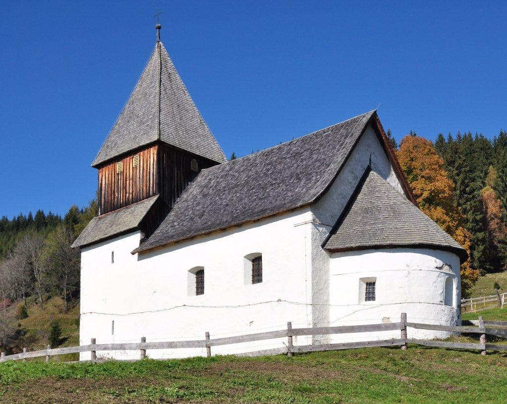 Filialkirche heiliger Leonhard beim Wirtshaus Fasch in Höllein - Höllein, Kärnten (9341-KTN)