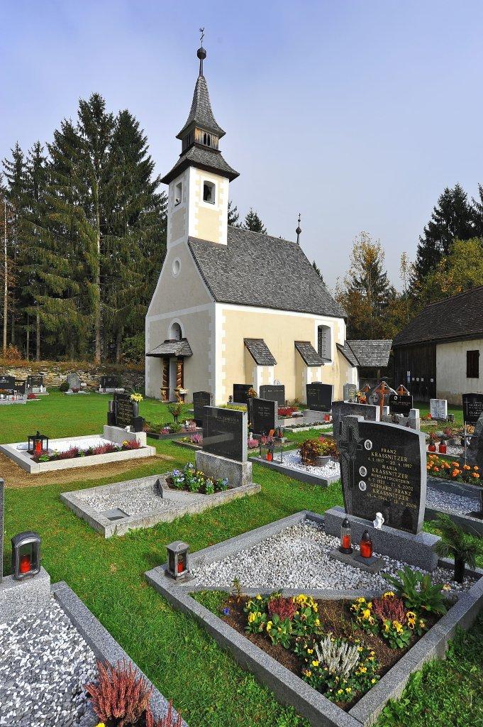 Friedhofskapelle heiliger Michael im Osten des Friedhofs. - Zweinitz, Kärnten (9343-KTN)
