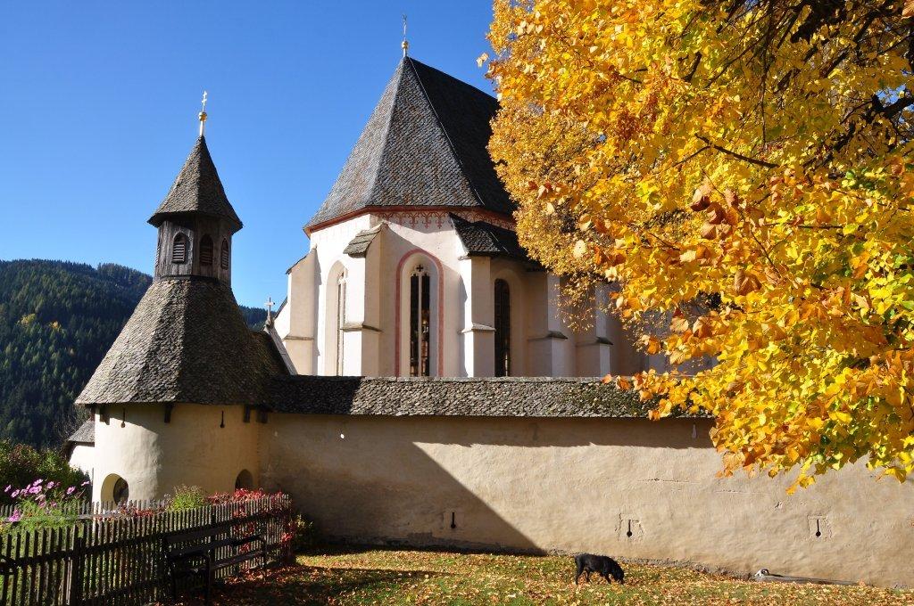 Vormaliger Wehrturm in der Wehrkirchenanlage, heutzutage Kapelle - Hochfeistritz, Kärnten (9372-KTN)