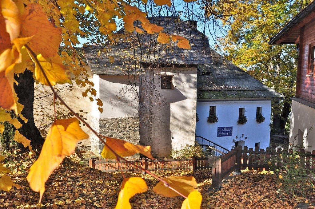 Tor- und Mauerturm der Wehranlage mit Gasthaus und Jausenstation - Hochfeistritz, Kärnten (9372-KTN)