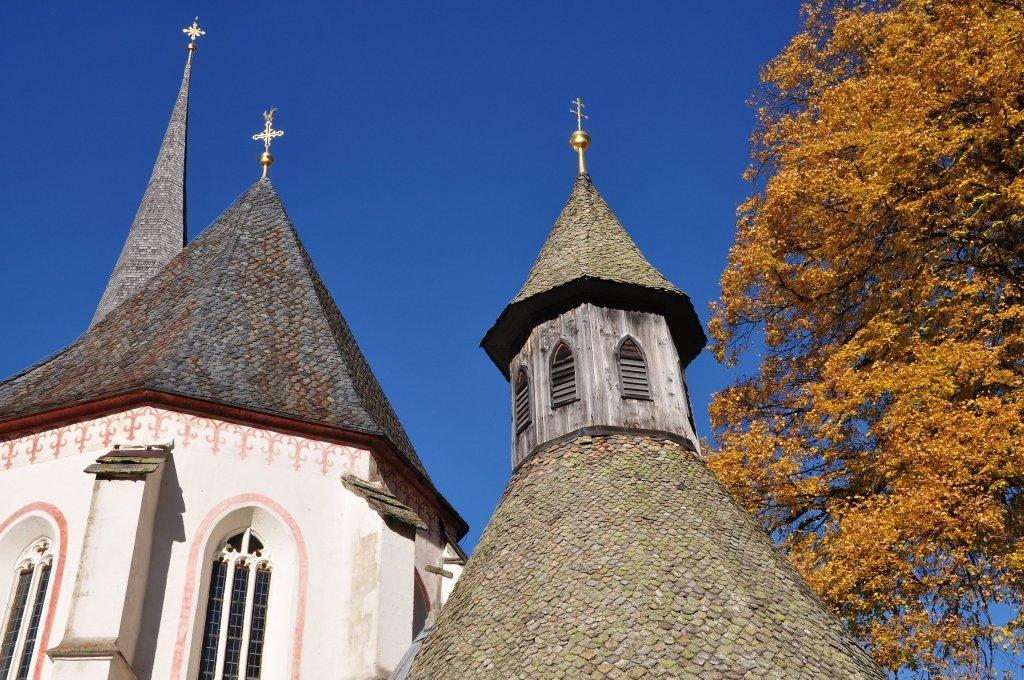 Dachspitzen von Kapelle, Chor und Kirchturm - Hochfeistritz, Kärnten (9372-KTN)