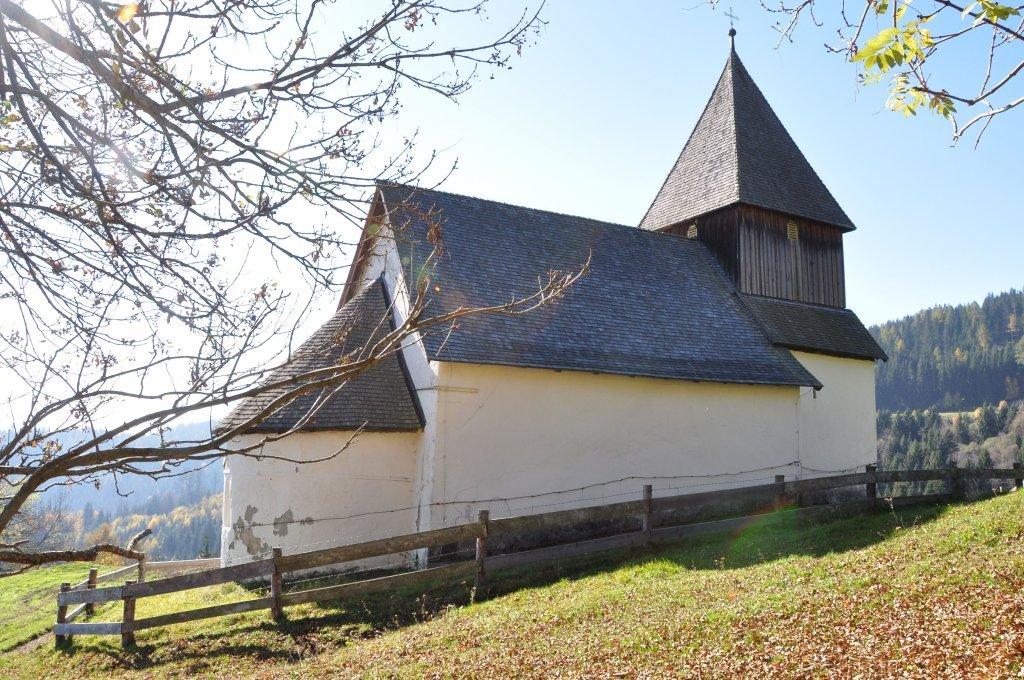Filialkirche heiliger Leonhard nahe vulgo Fasch in Höllein - Höllein, Kärnten (9341-KTN)
