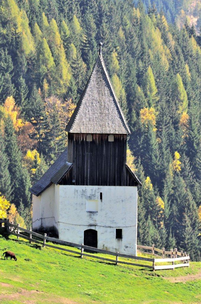 West-Ansicht der Filialkirche heiliger Leonhard in Höllein - Höllein, Kärnten (9341-KTN)