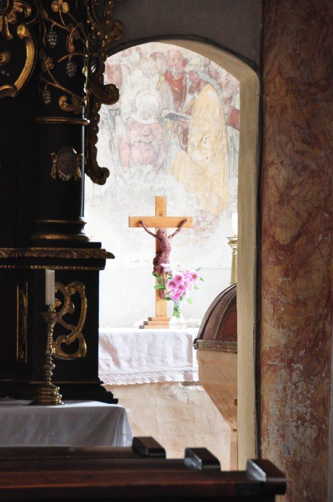 Blick in die Taufkapelle der Pfarrkirche heiliger Johannes in Weitensfeld - Weitensfeld im Gurktal, Kärnten (9344-KTN)