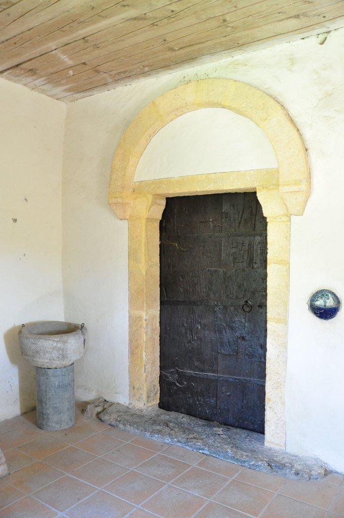 Romanisches West-Portal der Filialkirche heiliger Leonhard in Höllein - Höllein, Kärnten (9341-KTN)