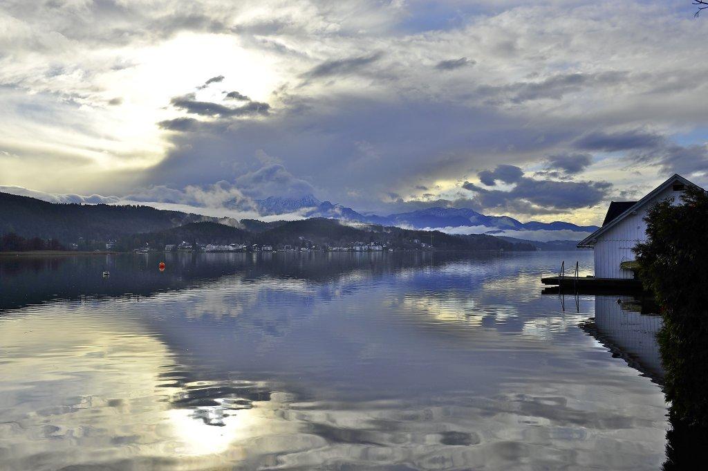 Blich über den See nach Unterdellach - Pörtschach am Wörther See, Kärnten (9210-KTN)