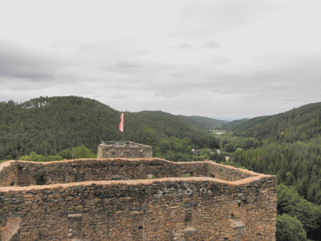 Fernblick von der Ruine Kronsegg zum Stausee - Schiltern, Niederösterreich (3553-NOE)
