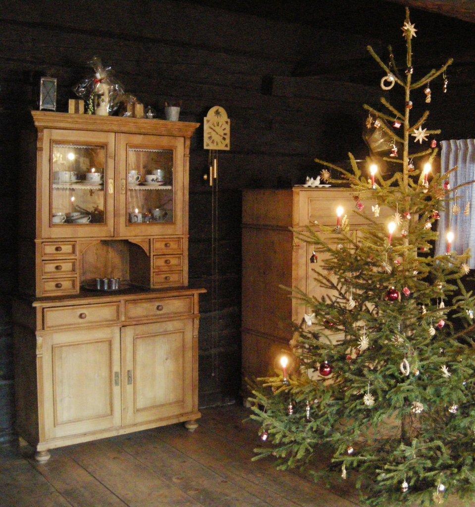 Weihnachtszeit in der Rauchstube im historischen Bauernhaus Hochrainberg Oberlehen 5a 5621 St.Veit im Pongau - Oberlehen, Salzburg (5621-SBG)