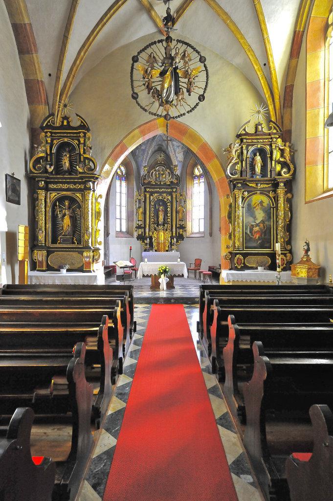 Innenansicht der Pfarrkirche Sankt Andrä - Thörl-Maglern-Greuth, Kärnten (9602-KTN)